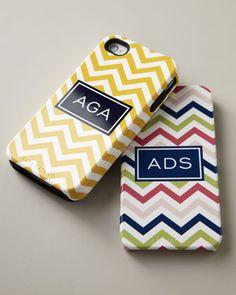 Boatman Geller Chevron iPhone case with monogram. Love these.