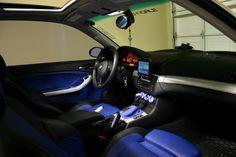 bmw e46 interior blue - Hledat Googlem
