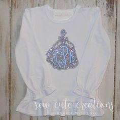 Cinderella shirt Cinderella Monogram shirt by sewcutecreations