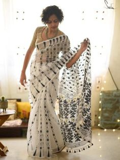 Buy handloom checks sarees from www.suta.in