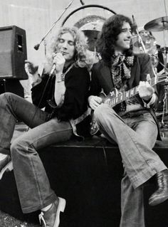 Led Zeppelin: Robert Plant and Jimmy Page photographed by Neal...