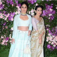 Kareena and Karishma Kapoor look sizzling hot as they grace Akash Ambani and Shloka Mehta's grand wedding - HungryBoo Kareena Kapoor Khan, Ranbir Kapoor, Blue Lehenga, Wedding Of The Year, Karan Johar, Ethnic Outfits, Bollywood Stars, Bollywood Celebrities, Indian Designer Wear