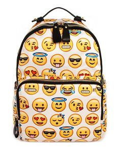 Emoji Pattern Backpack