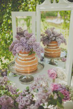 lilac naked wedding cake     Sugar and Soul Photography