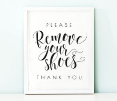 Please remove your shoes sign PRINTABLE arttake by TheCrownPrints