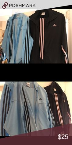 2pack Adidas warm ups 2pack Adidas warm ups, purchased from Nordstroms. pink & black heavier material, blue more lightweight. Adidas Other