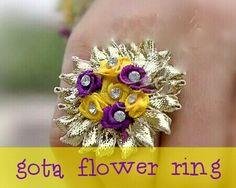 Gota flower ring