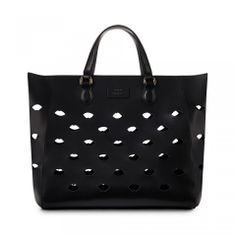 Black Lip Large Francesca Bag