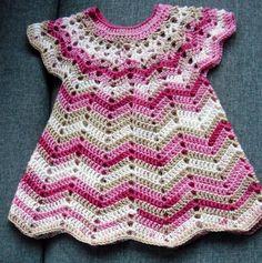 gehäkeltes Kleid Babykleid Gr. 68-80