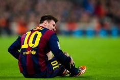 Lionel Messi of FC Barcelona looks on during the La Liga match between FC Barcelona and Club Atletico de Madrid at Camp Nou on January 11, 2015 in Barcelona, Catalonia.