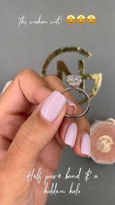Cushion cut engagement ring...!!!!