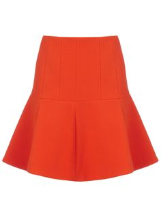 Fab Bright Orange Wool Skirt Carven for the fall/winter!