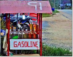 Extrapris på en bensinmack i Thailand. (ej pantflaskor)