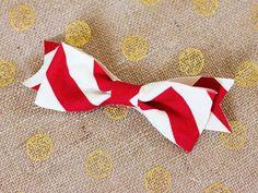 Este laço de tecido fácil também pode decorar toda a sua festa (Foto: sarahhearts.com)