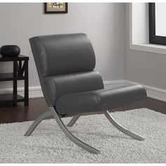 Unique Retro Mid Century Modern Vintage Lounge Faux Leather Padded Accent Chair