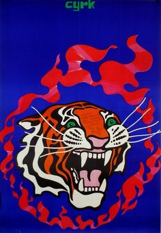 Tadeusz Jodlowski, Circus Tiger and Flaming Circle, 1970