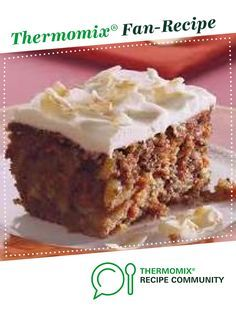 Best Ever Carrot Cake by chevaunw. A Thermomix ® recipe in the category Baking . - Best Ever Carrot Cake by chevaunw. A Thermomix ® recipe in the category Baking - sweet on www., the Thermomix ® Community. Gluten Free Carrot Cake, Healthy Carrot Cakes, Best Carrot Cake, Thermomix Desserts, Easy Cake Recipes, Sweet Recipes, Dessert Recipes, Healthy Recipes, Gastronomia