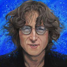 ©️Adam Howard / Adam Howard Art 2021 Award Winner, John Lennon, Over The Years, Gifts For Friends, United States, Portrait, Art, Art Background, Headshot Photography