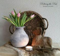 Pot een betonlook gegeven met muurvuller, Cotton White, Stone & Soft Black van Deco & Lifestyle ♡♡