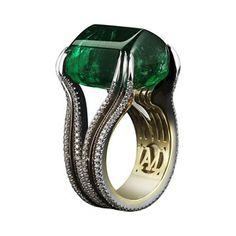 Gemfields' 26ct Zambian emerald ring by New York jewellery designer Alexandra Mor. WoW !! ~AWESOME~!
