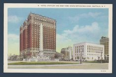 Postcards - United States # 1009 - Hotel Statler & NY State Office Building, Buffalo, New York