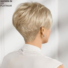 Hair Beauty - -Joyful WhisperLite® Comfort Stretch Wig by Paula Young® - Paula Young undercutBob Short Hair Back, Edgy Short Hair, Short Hair With Layers, Short Hair Cuts For Women, Short Hair Styles, Short Blonde, Choppy Bob Hairstyles, Haircuts For Fine Hair, Cute Hairstyles For Short Hair
