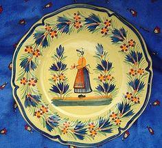 Quimper France Faience Bretonne Plate
