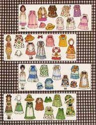 Image detail for -Gingham paper Dolls