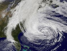 Satellite Image of Hurricane Sandy off the East Coast on by NASA via npr preocupada com Cabral Atlantic Hurricane, Hurricane Sandy, Tornados, Natural Phenomena, Science And Nature, Amazing Nature, East Coast, Yorkie, Climate Change