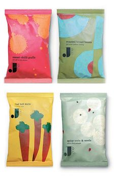 Jamie Oliver Chips by Pearlfisher & illustrated by Lucia Gaggiotti Chip Packaging, Fruit Packaging, Food Packaging Design, Bottle Packaging, Packaging Design Inspiration, Brand Packaging, Branding Design, Plastic Bag Packaging, Coffee Packaging