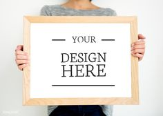 Mockup design space on white board Empty Frames, Space Photos, Frame Display, Image Photography, High Quality Images, Mockup, Free Images, Holding Hands, Picture Frames