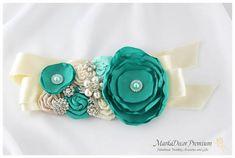 Bridal Sash / Custom Made Belt in Tiffany by MarkadecorPremium, $123.00