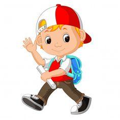 Милый мальчик с рюкзаком мультфильм Prem... | Premium Vector #Freepik #vector #school #book #kids #education Cute Boys, Adobe Illustrator, Vector Free, Backpacks, Illustration, Cartoon Download, Fictional Characters, Pdf, Cute Girls