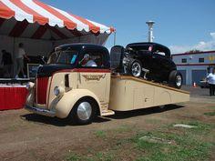 Ford COE ramp deck Car hauler