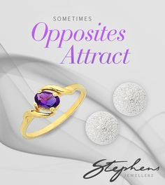 Sometimes, opposites attact. Pairing contrasting jewellery can make a bold statement. See our La Couronne collection in store or shop online http://www.stephensjewellers.com.au/brand/stephens?category=&stone_type=&metal_type=&search_query=&gender=&promotion= #Stephensjewellers #Jewellery #Amethyst #February #Birthstone http://www.stephensjewellers.com.au/