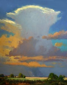 Rusty Jones  Flatland Cloud Burst, Oil