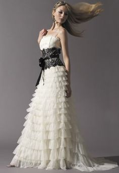Plain Dress needs some jazzing up :  wedding dress missing something wedding dress white Blk Lace Belt Wedding Opt