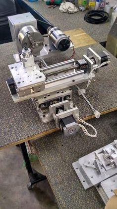 เครื่องกลึงเล็ก Minicnc Lathe ~ Minicnc Cnc Wood Lathe, Diy Lathe, Arduino Cnc, Cnc Router, Router Lift, Hobby Lathe, Cnc Lathe Machine, Cnc Spindle, Cnc Maschine