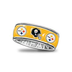 WANT THIS!!!!   Officially Licensed Pittsburgh Steelers Spinning Band Ring