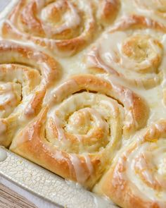 One of our favorite morning treats! A sweet roll recipe made with an orange filling and an irresistible lemon glaze. Everyone loves these delicious Orange Rolls! Orange Cinnamon Rolls, Orange Sweet Rolls, Beignets, All You Need Is, Sweet Roll Recipe, Keto Friendly Desserts, Back Home, Brunch, Dessert Recipes