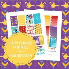 Arabian Nights MAMBI Happy Planner Printable - Weekly Set, Happy Planner Stickers, PDF Instant Download