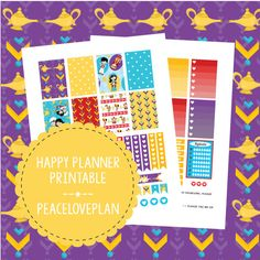 Arabian Nights MAMBI Happy Planner Printable - Weekly Set, Happy Planner Stickers, PDF Instant Download