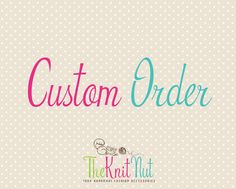 Custom order for - Gary by TheKnitNut on Etsy