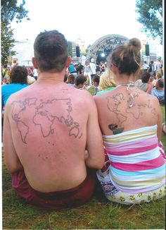 World tattoo from a lovley couple at the summerjam germany...
