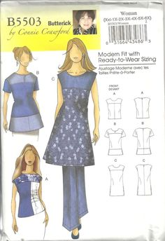 OOP BUTTERICK B5503 MISSES' SIZE XXL-6X Connie Crawford BLOUSE SEWING PATTERN #BUTTERICK #SewingPattern