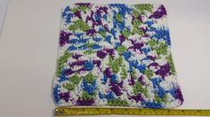 Purple, Green, Blue and White Cotton Cloth