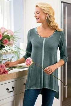 Our Soft Comfy Top will easily top your go-to list with a beautiful silk detail.