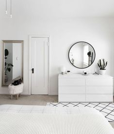 How to Achieve a Minimal Scandinavian Bedroom is part of Minimalist bedroom Interior - Tips for styling a modern and Scandinavian interior Light and neutral monochrome bedroom Interior Design Minimalist, Modern Minimalist Bedroom, Minimal Bedroom, Minimalist Home, Modern Bedroom, Contemporary Bedroom, White Bedrooms, Bed Room White, Contemporary Design