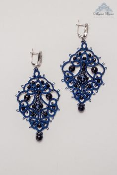 Fable Simply Needle Tatting Earrings Tutorial Tutorials And