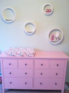 Love the round things Circles, Dresser, Kids Room, Babies, Furniture, Ideas, Home Decor, Powder Room, Room Kids